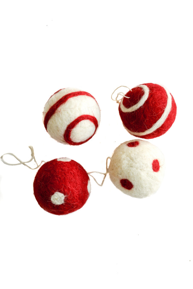 Red+White Round Ornaments