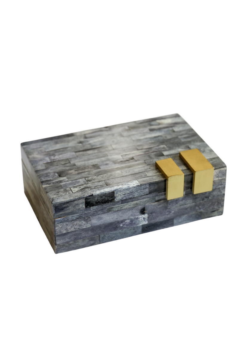 Gray Box with Gold Side Accent