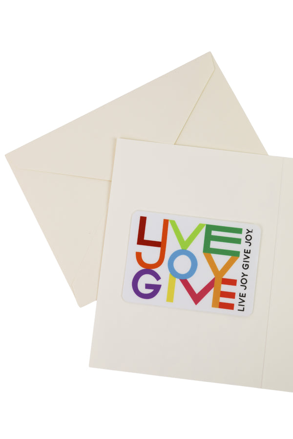"""Live Joy Give Joy"" Cat Card + Sticker"