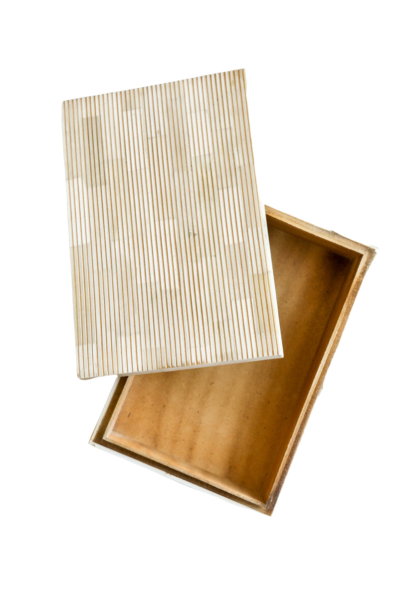 Gold Stripe Bone Box