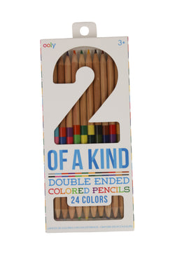 2 of a Kind Double-Ended Colored Pencils
