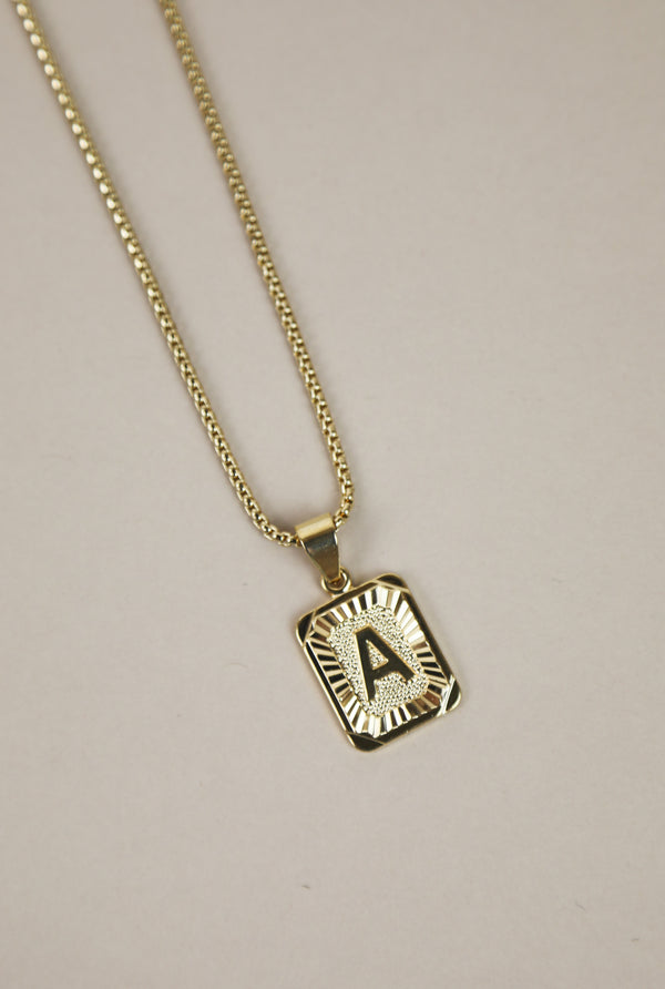 Golden Days Initial Pendent Necklace