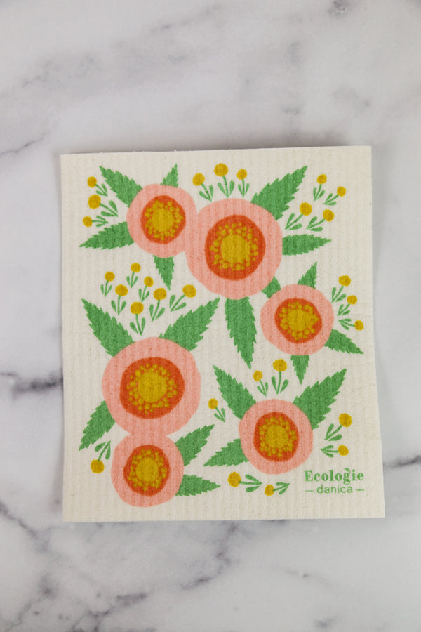 Swedish Dishcloth Rosa