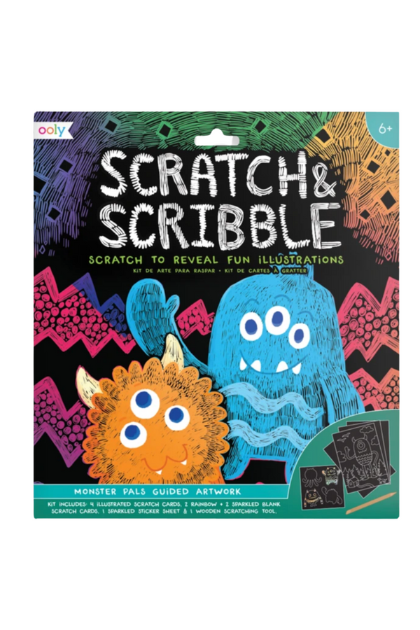 Scratch & Scribble Art : Monster Pals