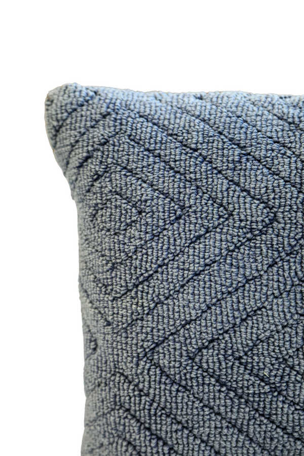Navy Chenille Pattern Pillow