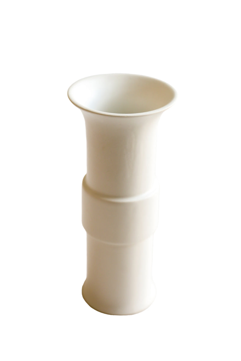 Mid Collar Vase White