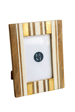 Jimmy 4x6 Brown Stripe Frame