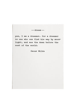 Dream by Wilde Paper Quote