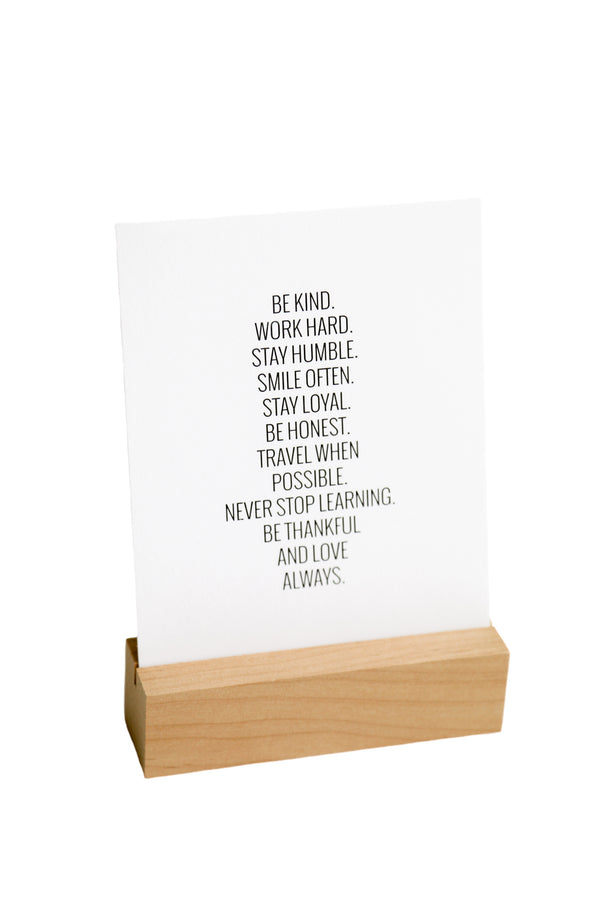 Be Kind Always Paper Quote