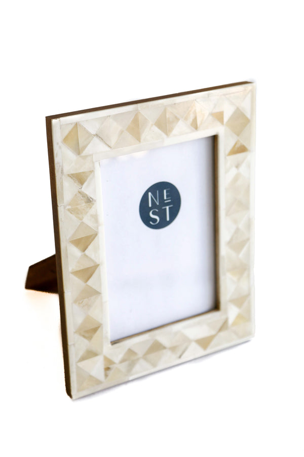 Neutral Diamonds Bone 5x7 Frame
