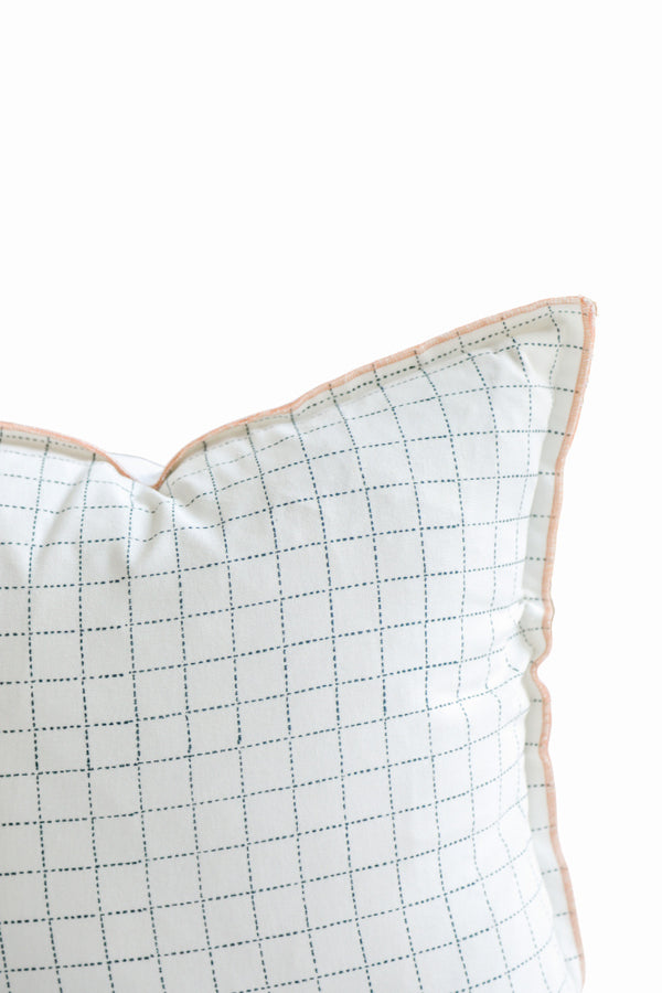 On The Grid Cream Pillow