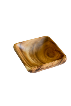 Wood Acacia Square Bowl