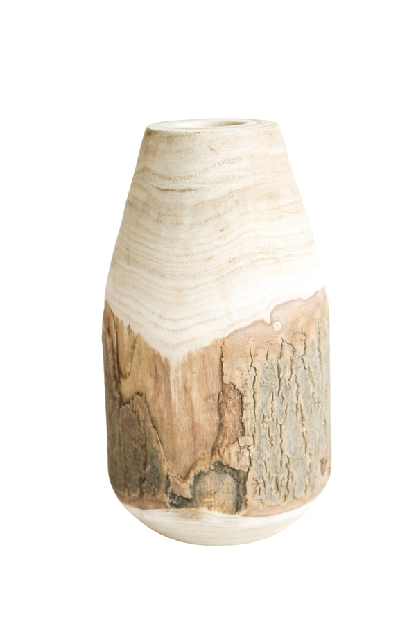 All Natural Wood Vase