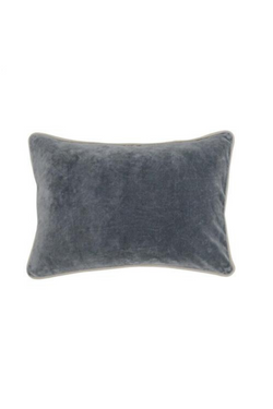 Samuel Velvet Stone Gray Pillow