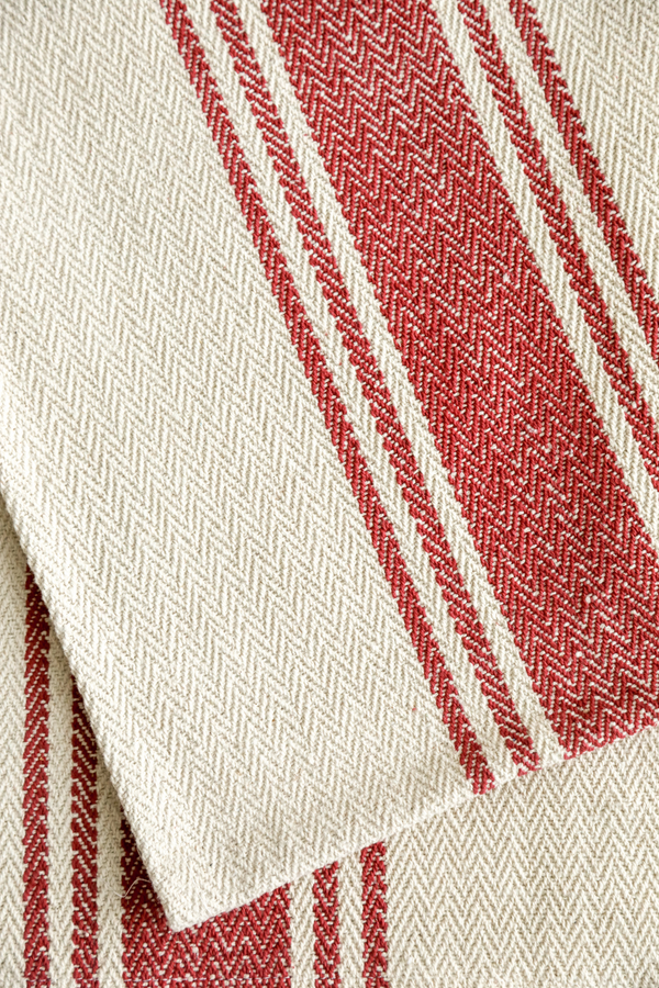 Red Stripe Cotton Runner