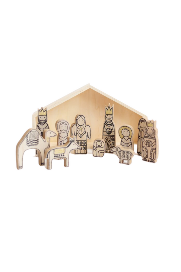 Starry Night Nativity Scene