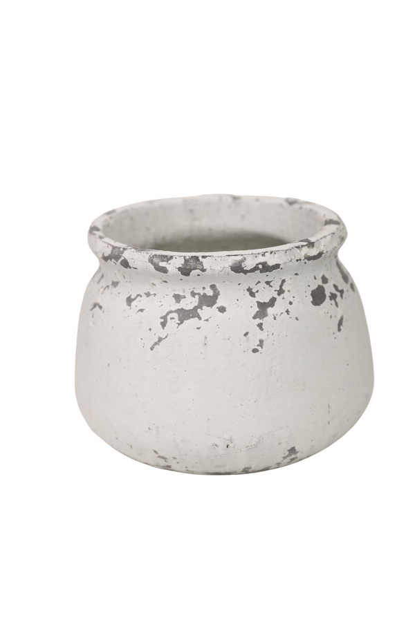 White Shabby Pot