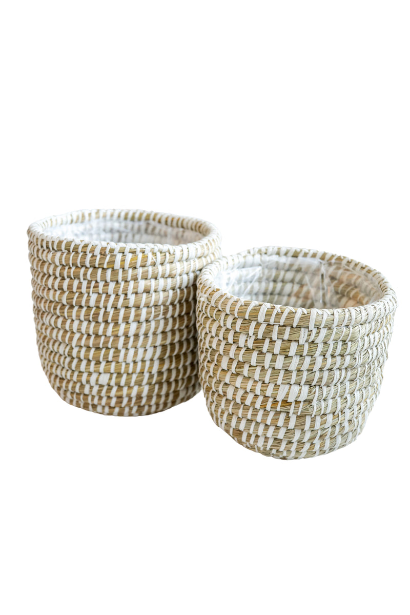 Natural Stacked Baskets