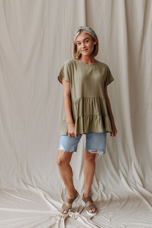 Without You Blouse in Olive