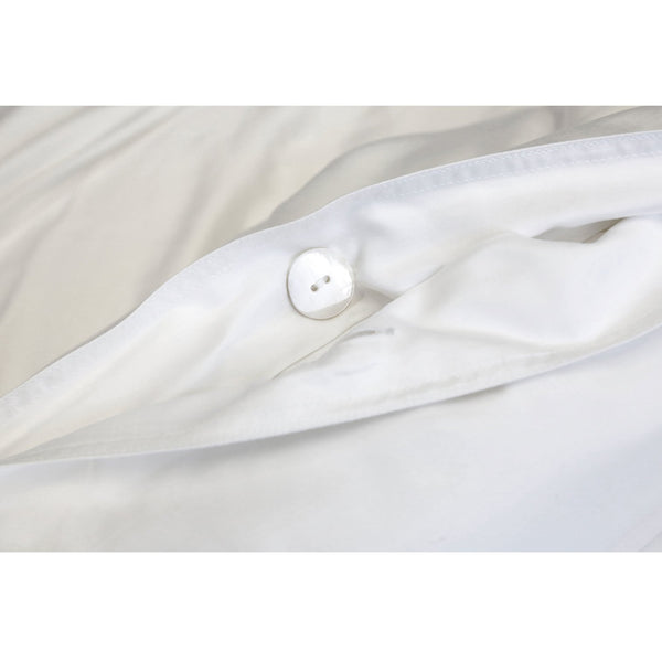 Cotton Sateen Duvet Cover in White