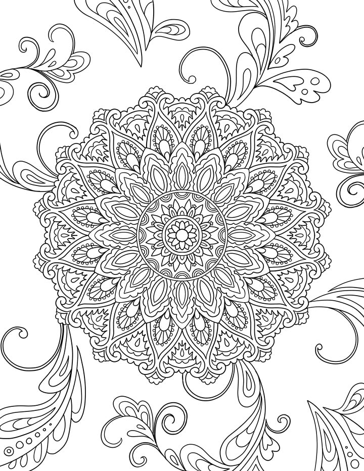 Mandala Colouring Page