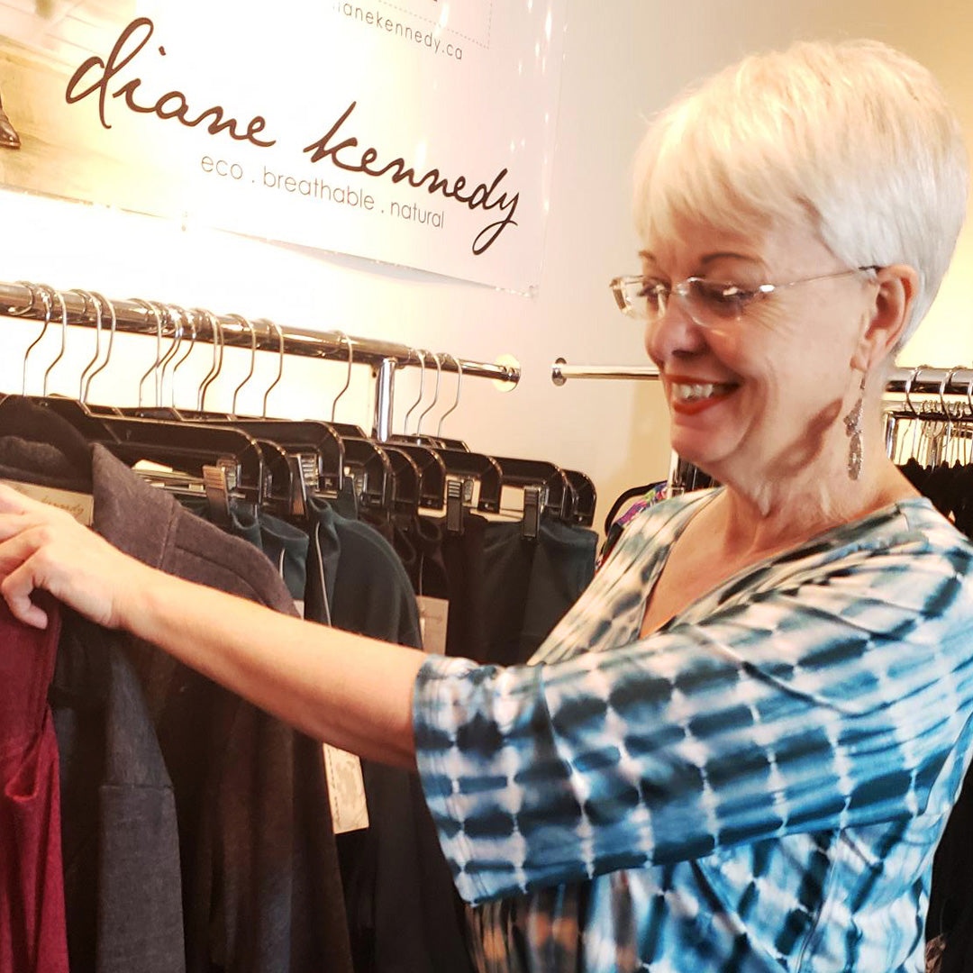 Shopping at Diane Kennedy Studios in Vancouver by appointment