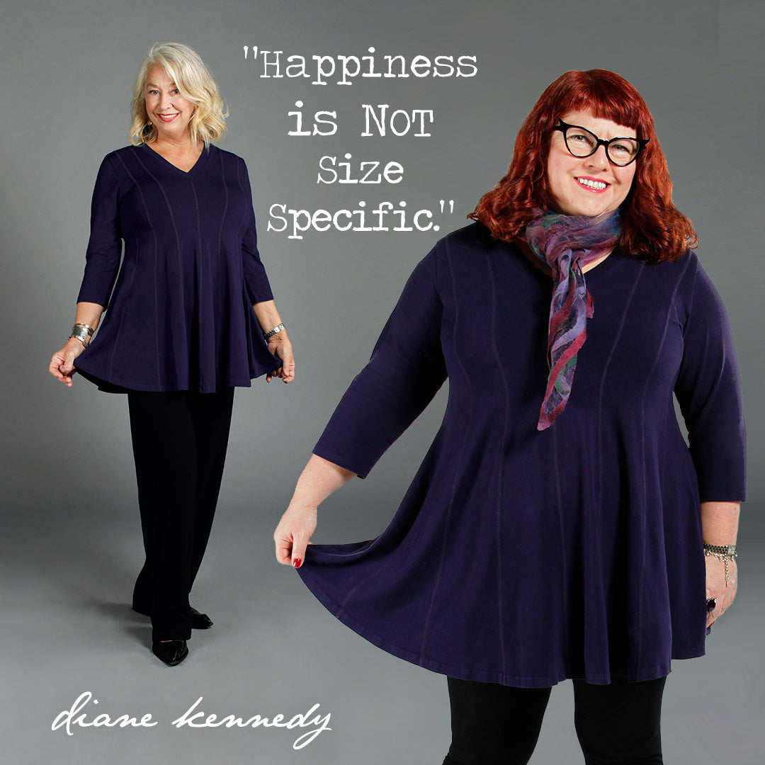 "Designer Diane Kennedy's message is ""Happiness is not size specific"""