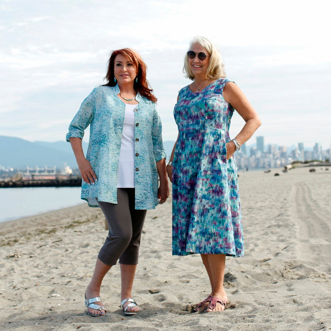 At the beach in Diane Kennedy's Spring collection