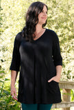 Playful Tunic - Black Bamboo - Only 0X & 2X left!