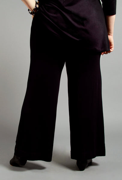 Serene Pant - Black Bamboo - (sizes 1X, 2X and 3X)