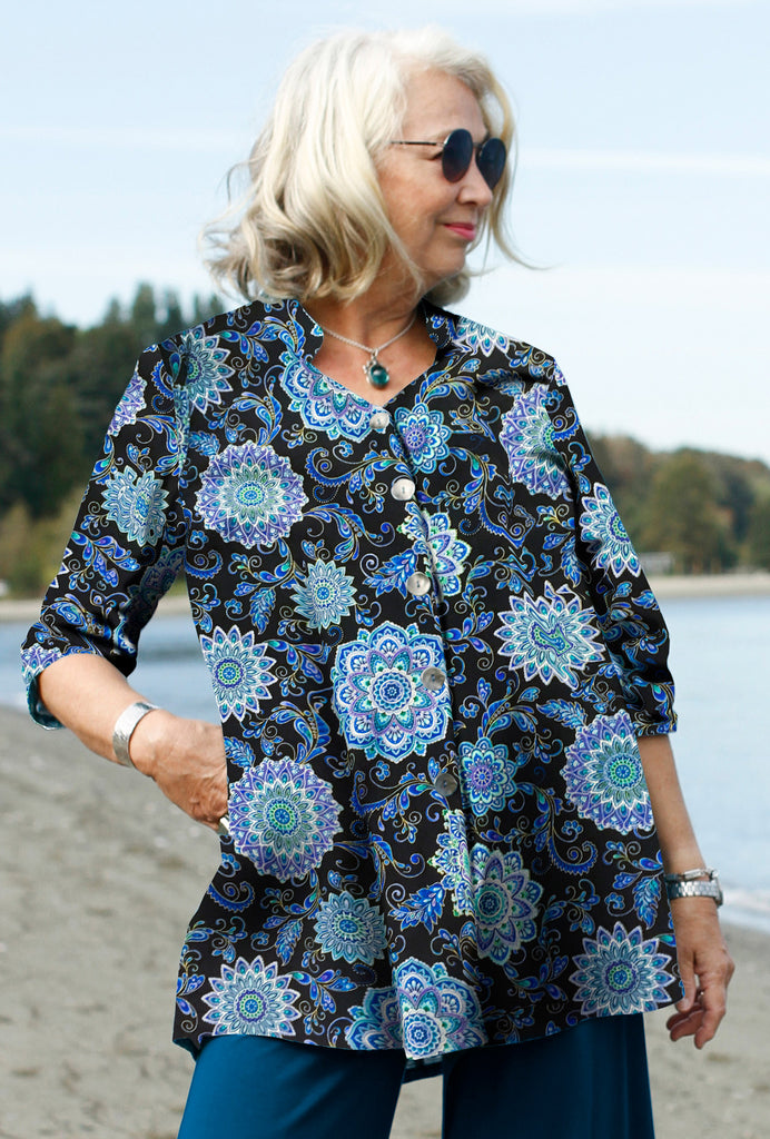 Sightsee Shirt - Cotton Print - Mandala