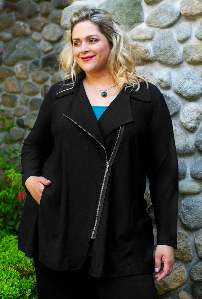 Studio Zip Jacket - Black Bamboo