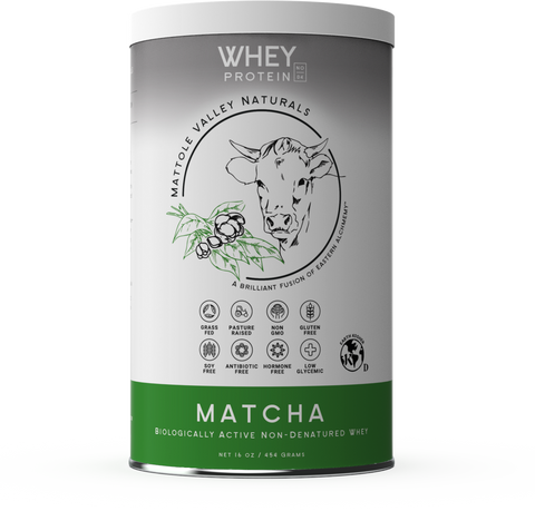 Whey Protein Matcha Tea - Mattole Valley Naturals 454grams