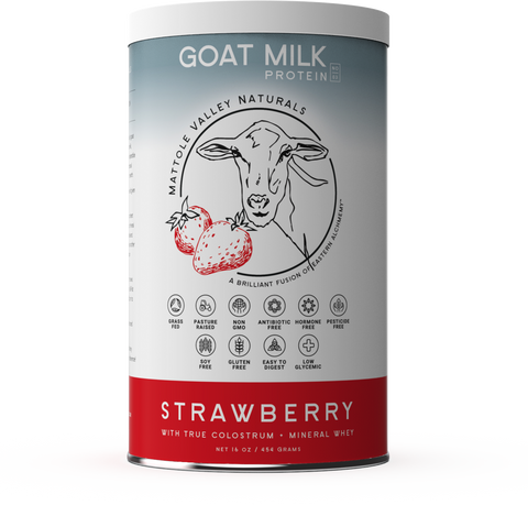 Goat Milk Protein Strawberry - Mattole Valley Naturals 454grams