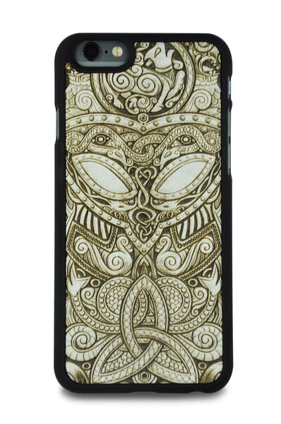 Handcrafted WhiteWood Viking Mask Phone case