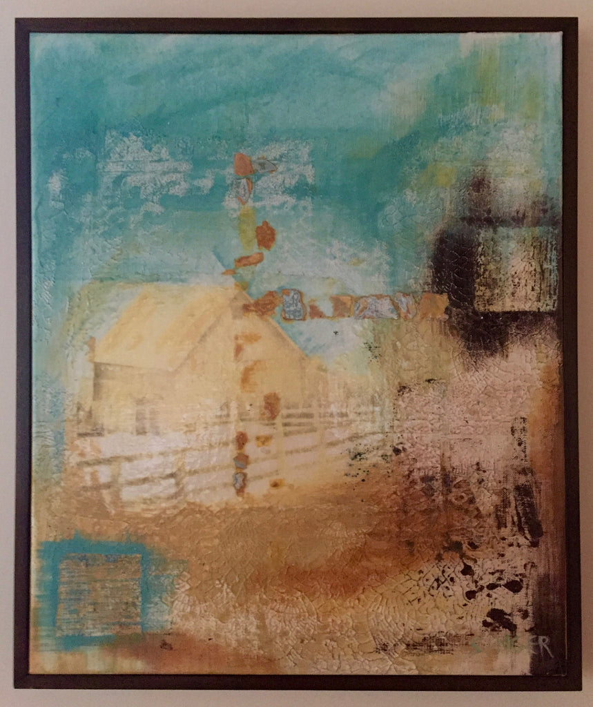 """Yellow Barn""-Framed-SOLD"