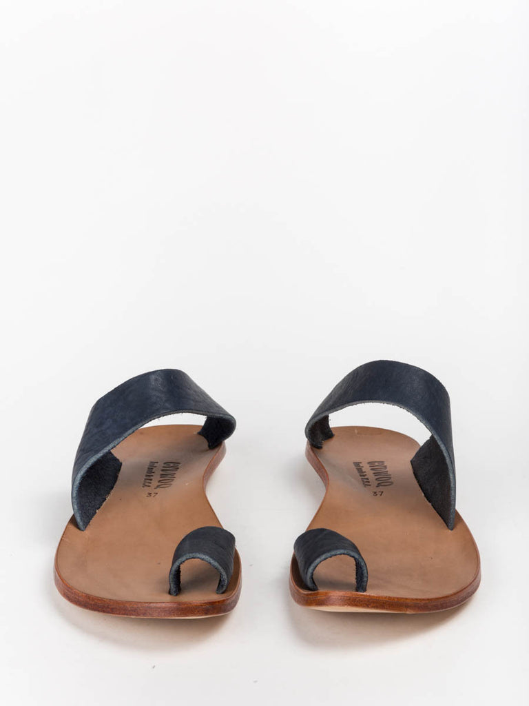 9f7a5e271d4 Cydwoq Thong Sandal in Navy Leather