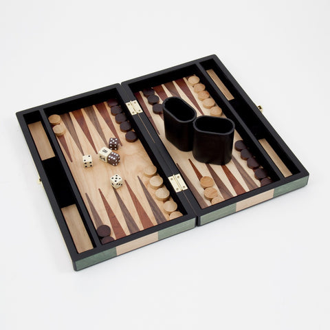 Green Checked Backgammon