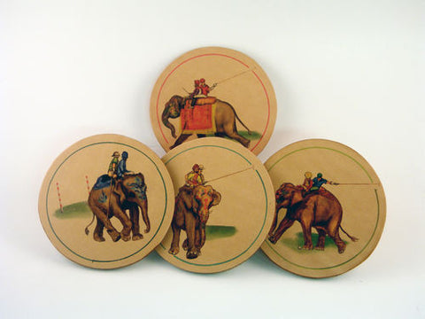 Elephant Polo Leather Coasters