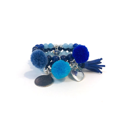 The Pompom Stack (Blue)