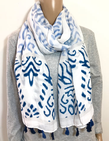 Summer Leopard Tassel Scarf - ON SALE
