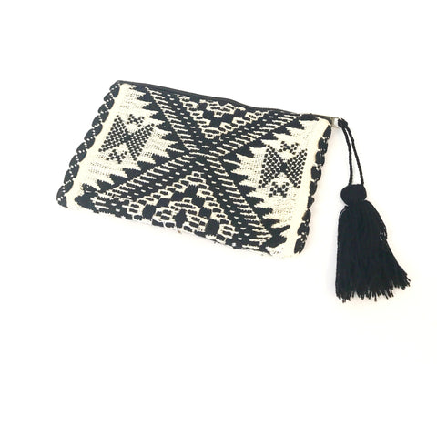 Tribal Pouch (Black and White)
