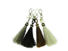 Grey Horse Hair Tassel Keychain (LARGE)