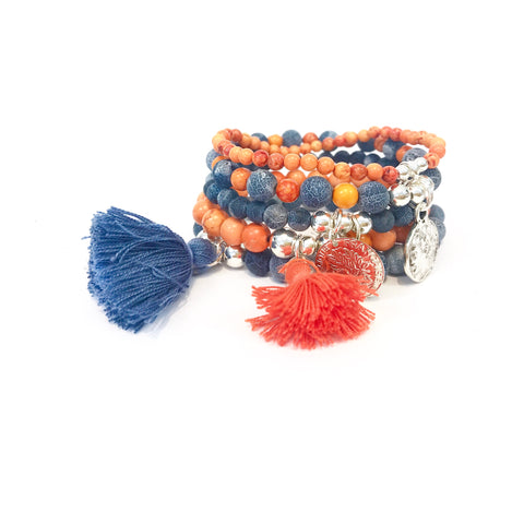 Denim and Tangerine Stack