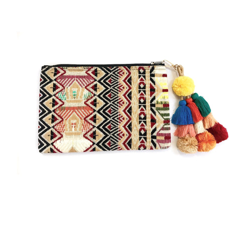 Geometric Clutch (Black/Red)