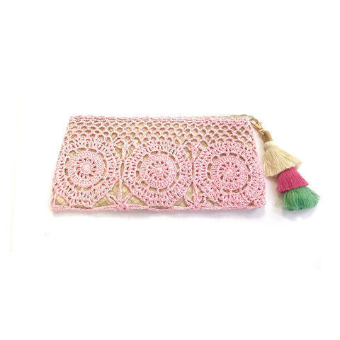 Pink Crochet Clutch (NEARLY SOLD OUT)