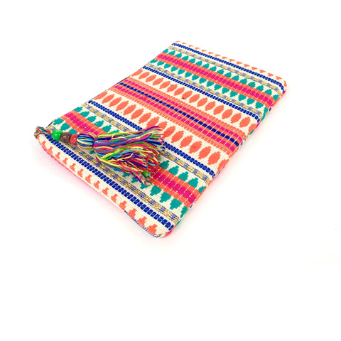 Multicoloured Summer Clutch (Orange)