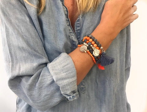 Denim and Tangerine Stack (NEW)