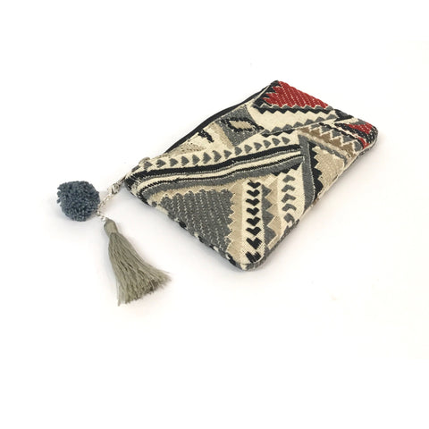 Grey Tribal Pouch - ON SALE