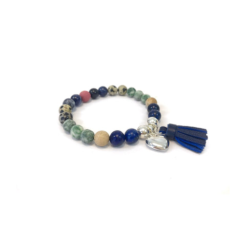 Winter Gemstone Tassel Bracelet